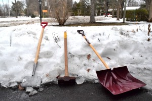 An ice chopper, a sledgehammer and a shovel are the tools you need to successfully break ice (photo Andrew Davis)